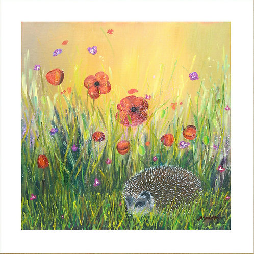Down In The Garden - Mounted Giclee Print