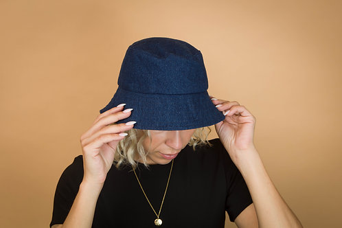 Chapeau bob denim