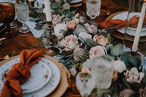 simple celebrations rust terracotta wedding