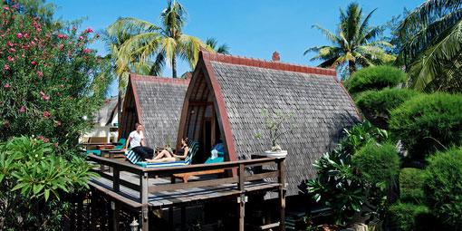 Traditional lumbung hut