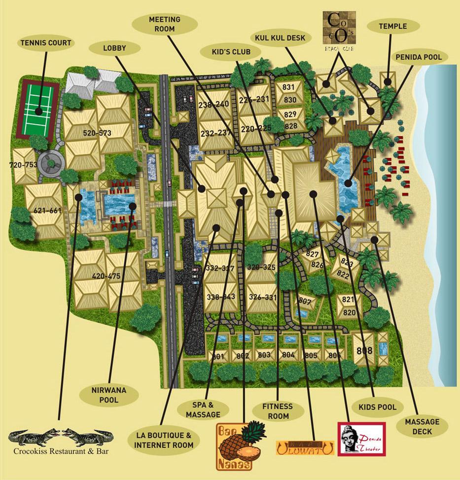 Novotel benoa map