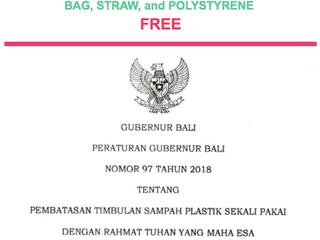 Ensimmäisenä Indonesiassa Bali kieltää kertakäyttöiset pillit, muovipussit sekä styroksit koko saare