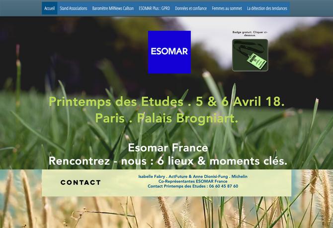 Printemps des Etudes . 5 & 6 Avril 18 . Palais Brongniart . Paris ESOMAR France - Rencontrez-nou