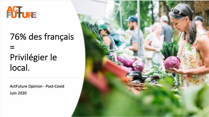 En post-Covid-19, 76% des français souhaitent PRIVILÉGIER LE LOCAL.