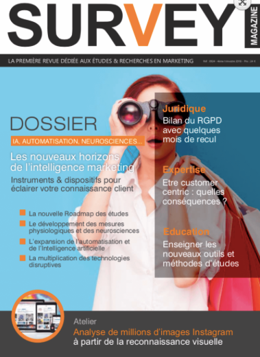 ActFuture dans les nouveaux horizons de l'intelligence marketing de Survey Magazine. Nov. 2018