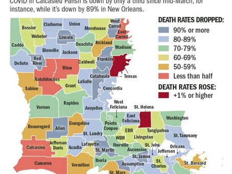 While state sees COVID deaths plummet, Calcasieu Parish lags behind