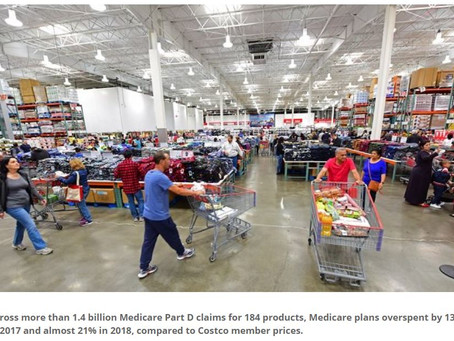 Study: Costco offers better prices than Medicare 50% of the time