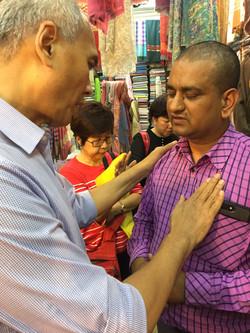 Praying for Textile owner