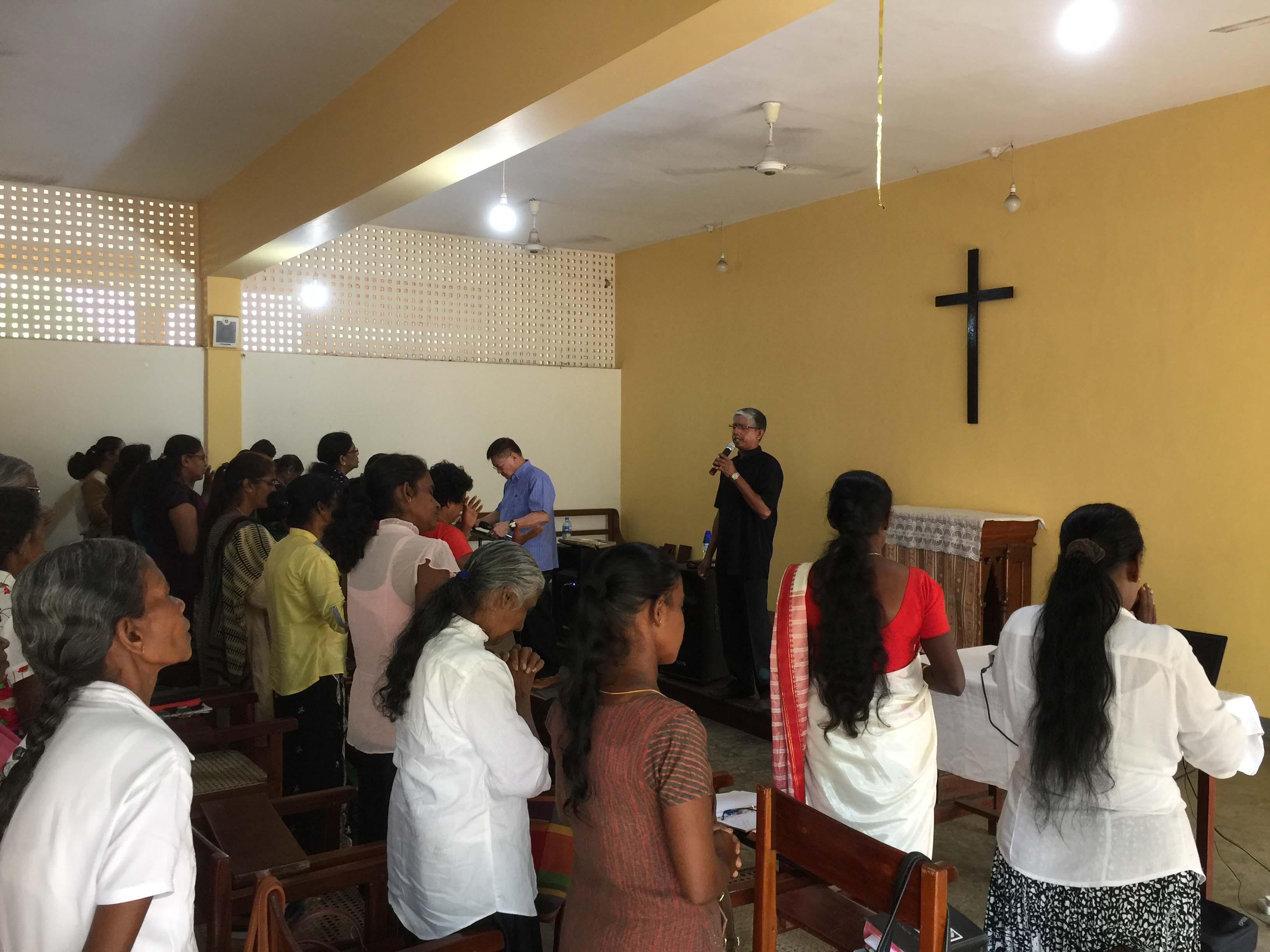 Pastor Stephen leading