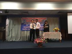 Dieu with graduating Timothy