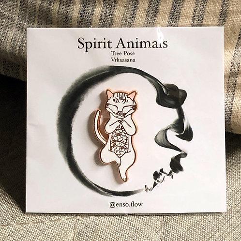 Spirit Animals- Tree Pose Cat
