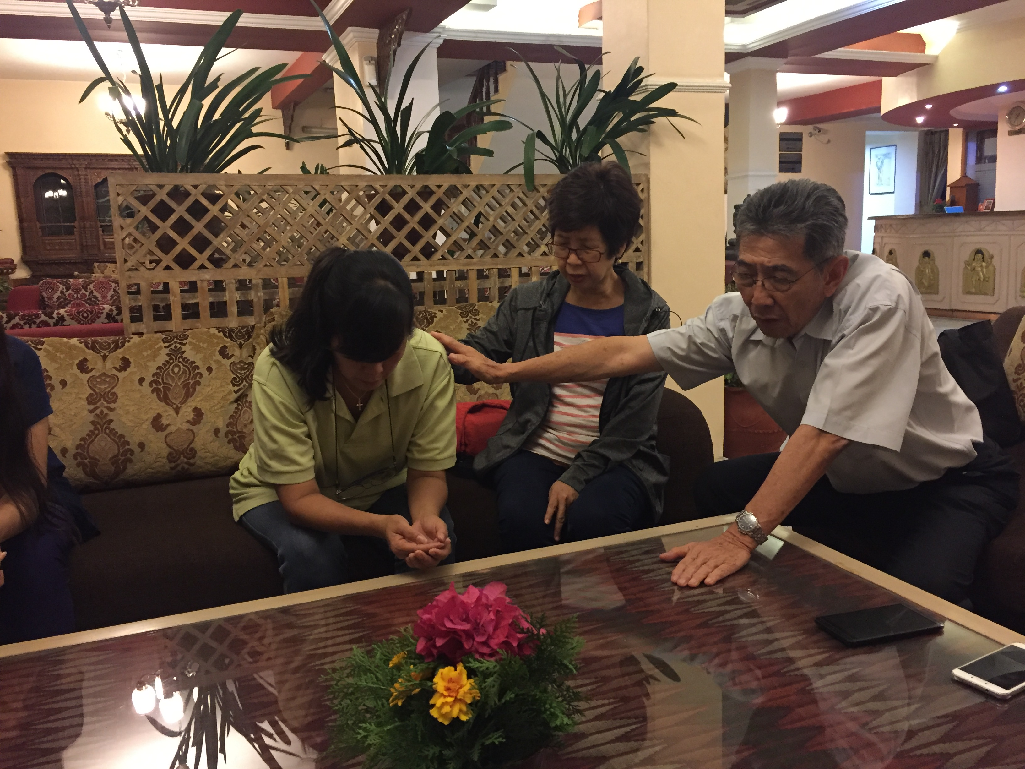 Ministering to a missionary from Malaysia