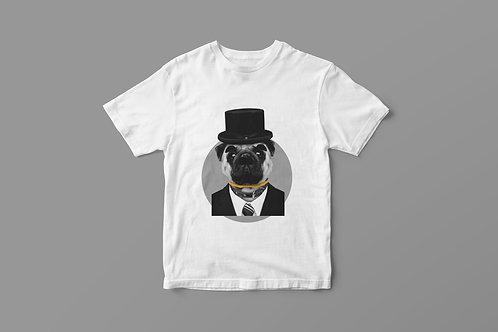 Organic T-Shirt Pug Chaplin Unisex