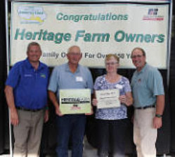 Recieving the Heritage Farm Licence at the Iowa State Fair 2015