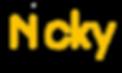 Logo Nicky Sushi - Black & yellow transp