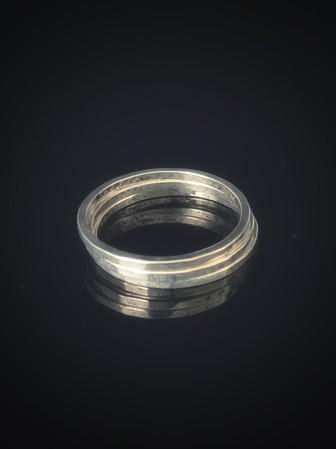 Thin Hammered Silver Stacking Rings