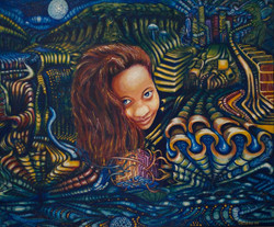 Acrylic on canvas - Realising Tash