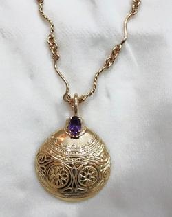 9ct Lime Pot Pendant & Necklace