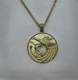 9ct Bird of Paradise Pendant