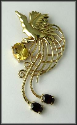 9ct Long Tail BOP Gemstones Pendant