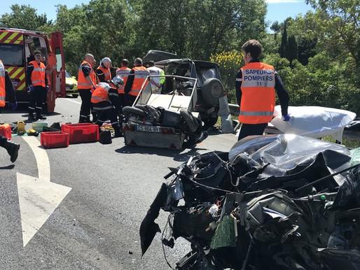 (30/05) Carcassonne :  un accident fait un blessé grave sur la rocade ce jeudi matin