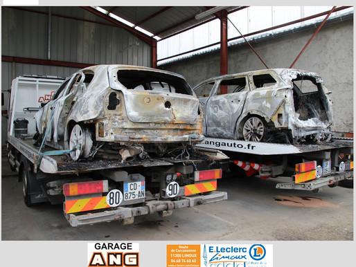 (05/06) Limouxin : une tonne de carburant dérobée et deux véhicules incendiés chez Berton à Routier