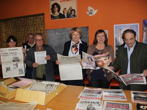 (19/04) Limoux :  Les élus locaux pour la défense de la liberté d' expression.