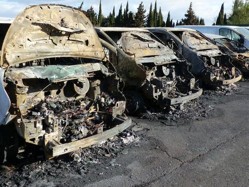 (12/03) Aude : dix véhicules détruits en une nuit