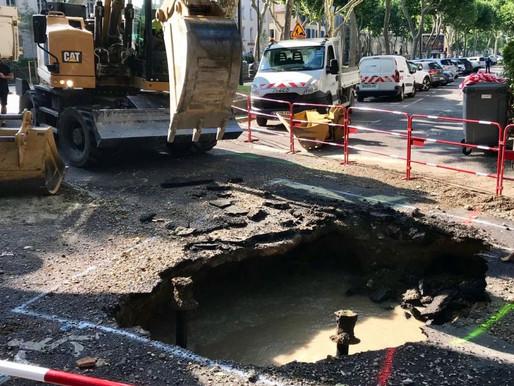 (03/07) Canicule Aude :  la canalisation cède sous la chaleur, un quartier privé d' eau