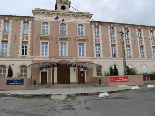 (20/03) Limoux : le lycée Jacques Ruffié dans le trio de tête de l' ouest-audois