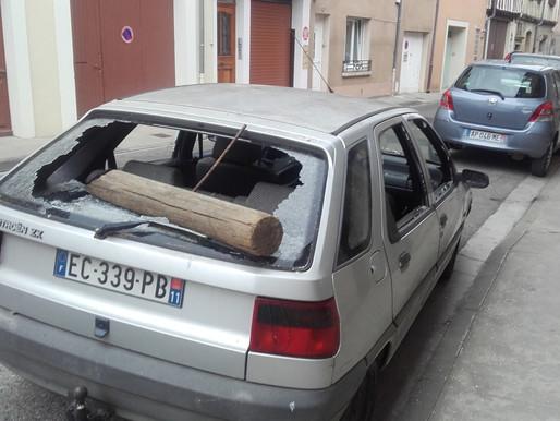(20/07) Limoux :  il défonce la voiture de son voisin à coups de rondin après un différent