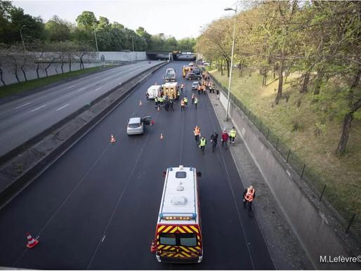 (22/04) National : deux pompiers grièvement blessés ce lundi matin sur un périphérique