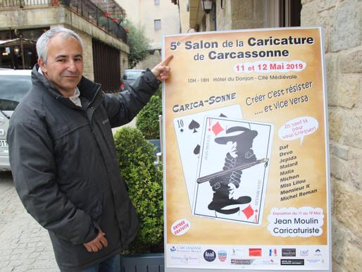 (07/05) Le caricaturiste et résistant Jean Moulin s' expose à la cité de Carcassonne du 11 au 19 mai