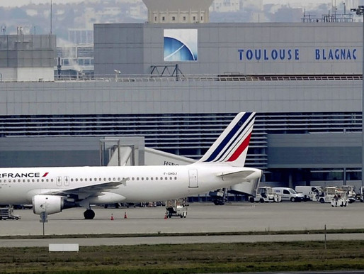 (12/06) Un airbus A321 se pose un réacteur en feu à Toulouse Blagnac