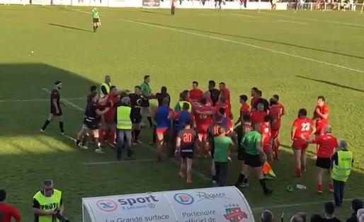 (03/03) Bagarre générale à la fin du match Saint-Sulpice / RCNM