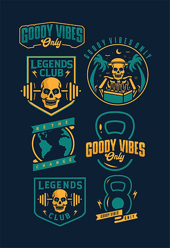 GoodyVibes . Legends Club Sticker Pack