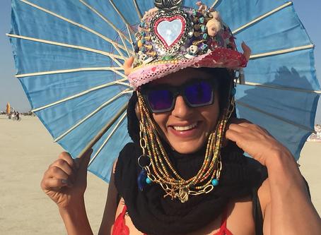 Collecting trinkets at Burning Man