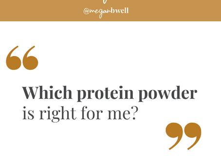 Which protein powder is right for me?