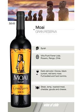 Moai – Gran reserve syrah