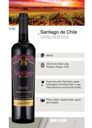 Santiago de Chile – Merlot Gran Reserva