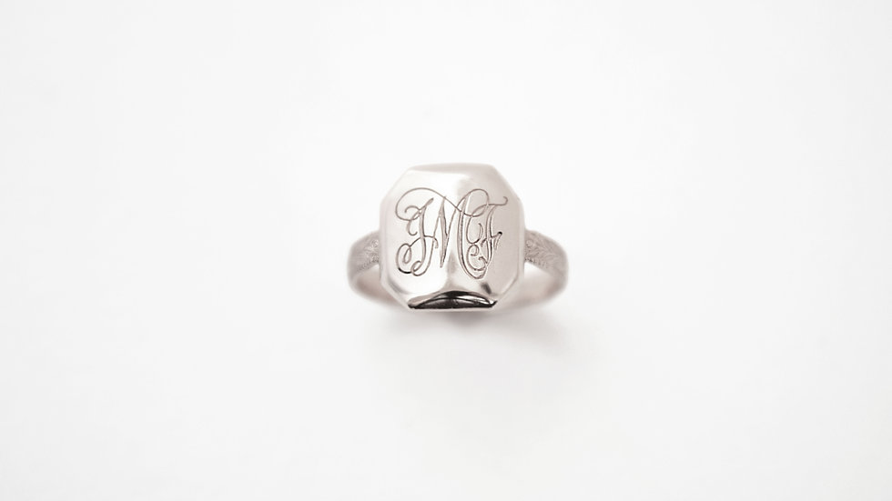 Octogone Ring Silver