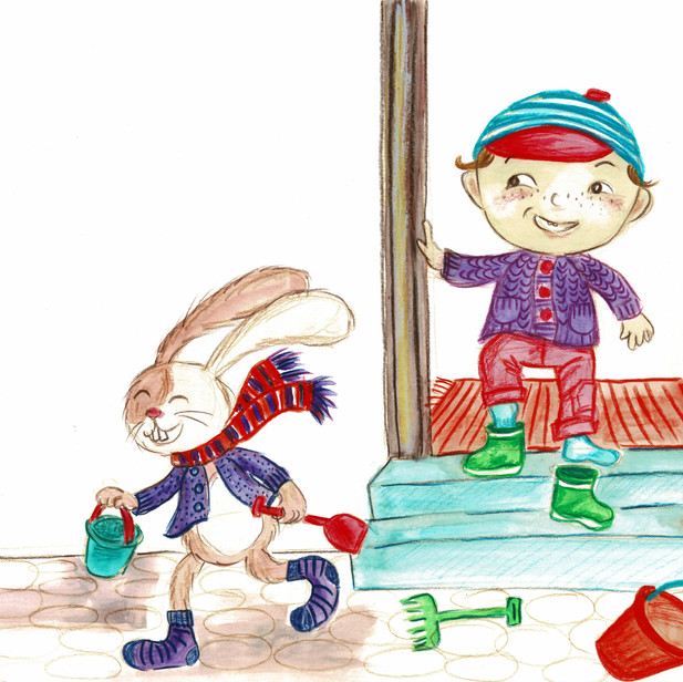 Boy and the bunny