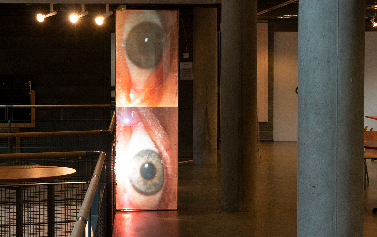 My eyes have seen you, installation, Aapo Korkeaoja