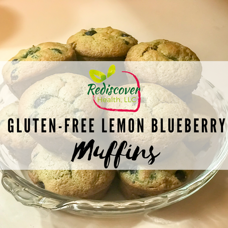 GF Lemon Blueberry Muffins