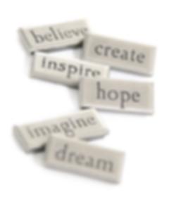 believe, create, inspire, hope, imagine, dream image