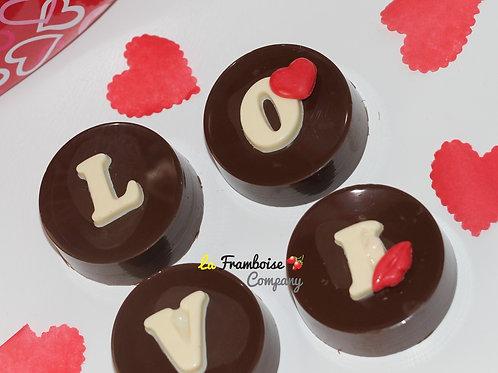 Love monogram chocolate dipped cookies