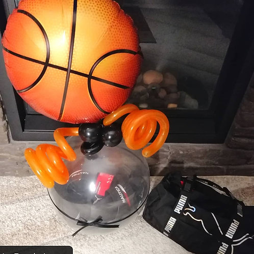 Basketball gift in a balloon