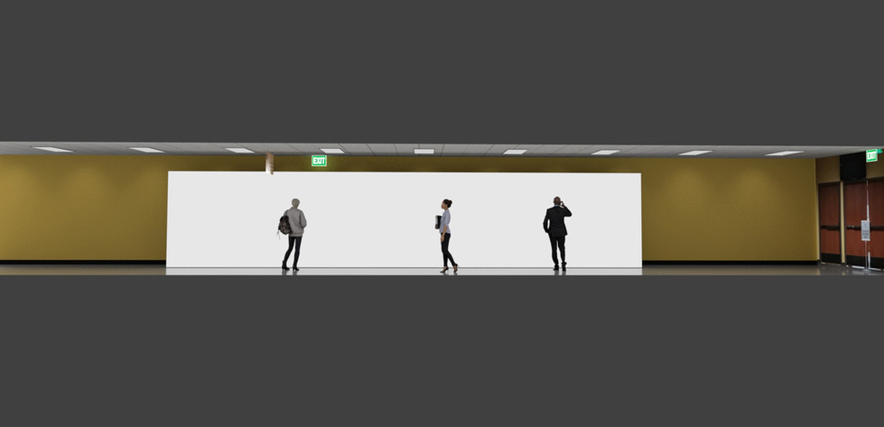 40' LED Wall Display Viz