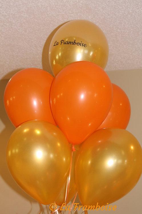 Orange & Gold balloon bouquet