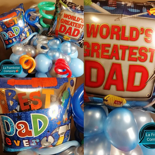 Father's Day organic balloon decor